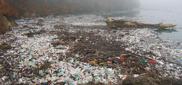 Plastik Plastikmüll Fluss