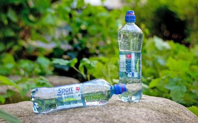Wasserflasche 100% Rezyklat REWE PENNY