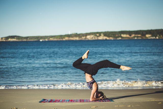 woman doing yoga self care ideas