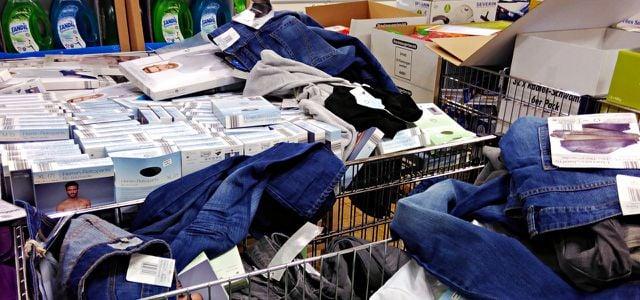 Aldi Süd: Bio Jeans, GOTS-zertifiziert – am Wühltisch