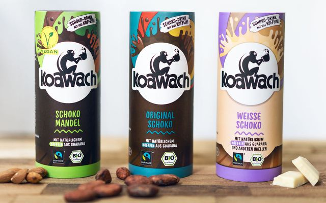 Das Food Startup koawach mischt Kakao mit Koffein aus Guarana.