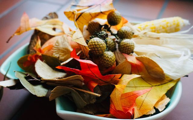 add color colorful leaves fall decor