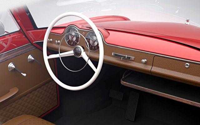 Auch innen ziemlich Retro: Nobe 100 E-Cabrio