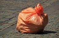 Welche Materialien befinden sich in einem Sack Müll?