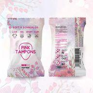 Pink Tampons von einem Münchner Hersteller