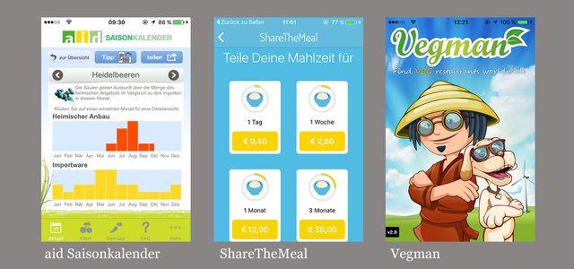 Die besten Apps: Saisonkalender, ShareTheMeal, Vegman