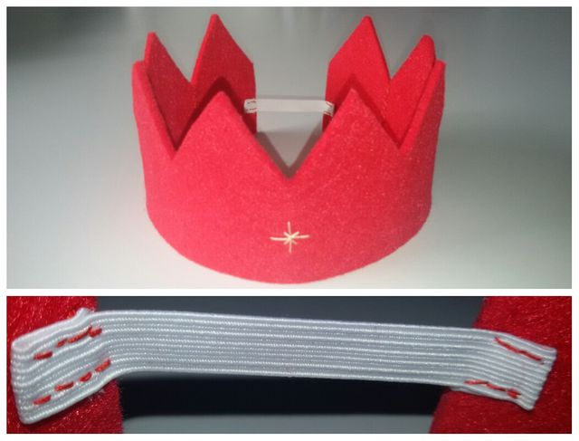 Die Krone aus Filz eignet sich toll als Geburtstagskrone.