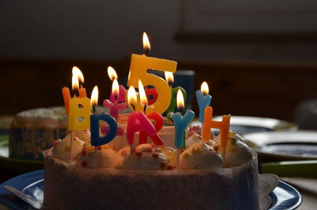 Auch ein Geburtstagskuchen darf nicht fehlen