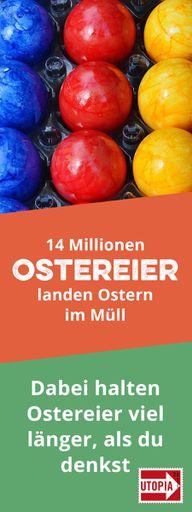 Lebensmittelverschwendung: 14 Millionen Eier landen Ostern im Müll