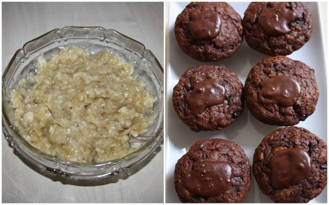 Bananen können in Muffins den Zucker ersetzen.