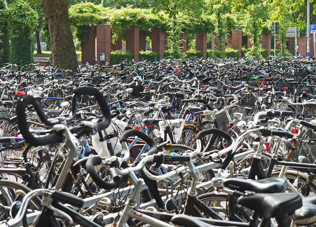 Fahrräder, die niemand mehr abholt, werden versteigert.