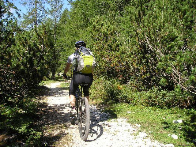 Radfaher kommen mit kleinerem ökologischem Rucksack aus.