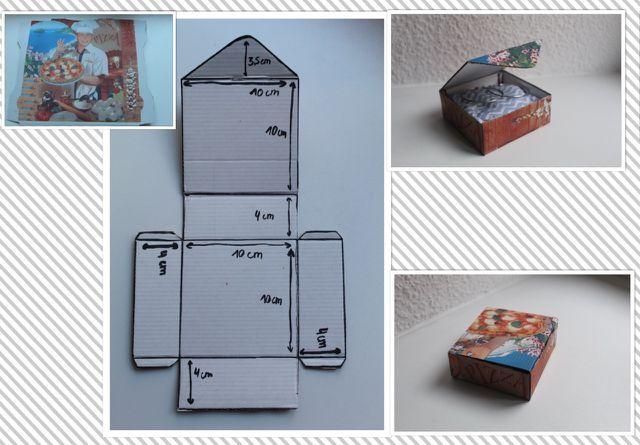 So kannst du aus einem alten Karton eine Schmuckschachtel basteln.