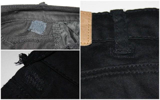 Ausgerissene Gürtelschlaufen lassen sich in Jeans sehr einfach und beinahe unsichtbar reparieren.