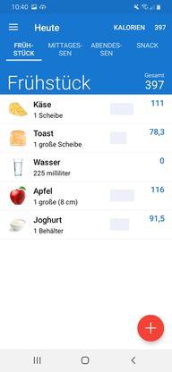Die Ernährungstagebuch-App