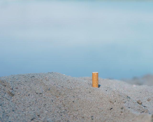 An Stränden findet man Zigarettenstummel besonders häufig.