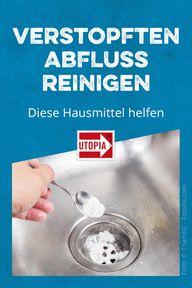 Verstopften Abfluss reinigen: Diese Hausmittel helfen ...