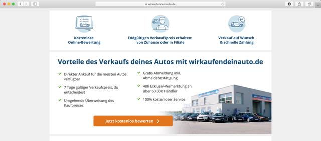 Über Wirkaufendeinauto.de kannst du an zahlreichen Anlaufstellen dein gebrauchtes Auto verkaufen