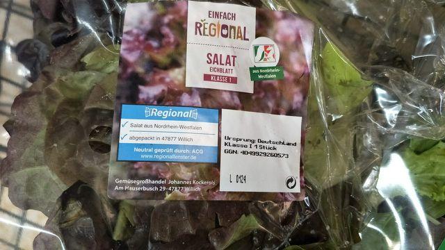 Regionalfenster auf Salat aus NRW.
